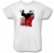 Bruce Lee Ladies T-shirt Kick It White