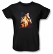 Bruce Lee Ladies T-shirt Yellow Jumpsuit Black