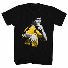 Bruce Lee Shirt Gold And Black Jumpsuit Black T-Shirt