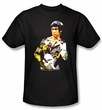 Bruce Lee T-shirt Adult Body Of Action Black