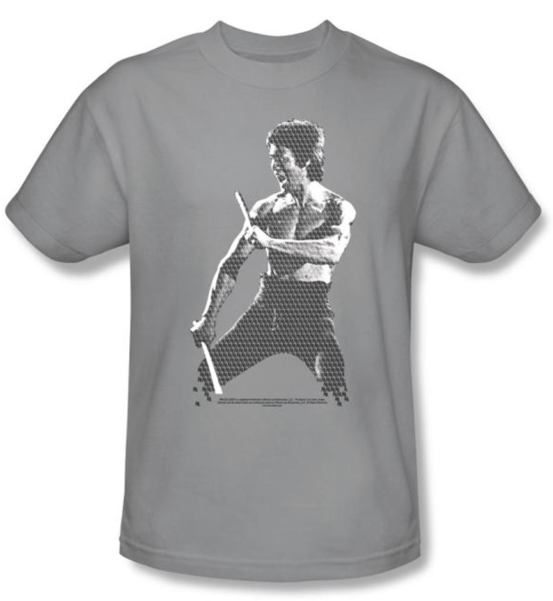 bruce lee t shirt adult chinese characters silver bruce lee t shirts. Black Bedroom Furniture Sets. Home Design Ideas