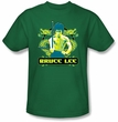 Bruce Lee T-shirt Adult Double Dragons Kelly Green