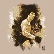 Bruce Lee T-shirt Adult Intensity Sand