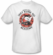 Bruce Lee T-shirt Adult Jeet Kune Do Kung Fu Academy White