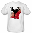 Bruce Lee T-shirt Adult Kick It White