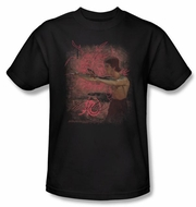Bruce Lee T-shirt Adult Power Of The Dragon Black