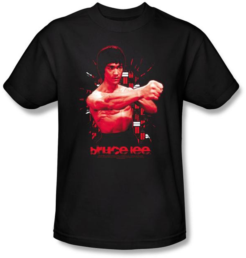 bruce lee t shirt adult shattering fist black bruce lee t shirts. Black Bedroom Furniture Sets. Home Design Ideas