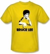 Bruce Lee T-shirt Adult Suit Splatter Yellow