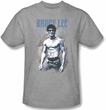 Bruce Lee T-shirt - Wearing Jeans Heather Gray Shirt