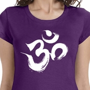 Brushstroke Aum Ladies Yoga Shirts