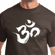 Brushstroke Aum Mens Yoga Shirts