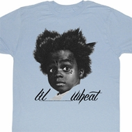 Buckwheat Shirt Little Rascals Lil Wheat Adult Light Blue Tee T-Shirt
