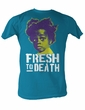 Buckwheat T-shirt Little Rascals Fresh To Death Turquoise Tee Shirt