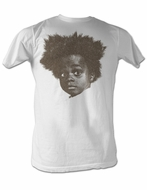 Buckwheat T-shirt Little Rascals Funny Big Head Adult White Tee Shirt