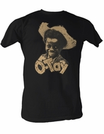 Buckwheat T-shirt Little Rascals Otay Straw Hat Adult Black Tee Shirt