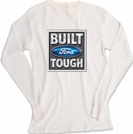 Built Ford Tough Long Sleeve Thermal - Adult Lightweight White Shirt