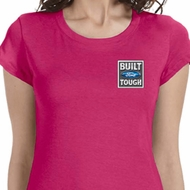 Built Ford Tough Pocket Print Ladies Shirts