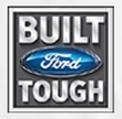 Built Ford Tough Raglan Shirt - Ford Logo Adult White/Red T-Shirt