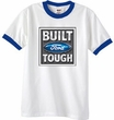 Built Ford Tough Ringer T-Shirts - Ford Logo Adult Tee Shirts