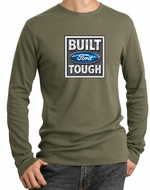Built Ford Tough Shirt Ford Logo Mens Army Long Sleeve Thermal Tee