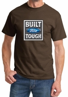 Built Ford Tough Shirt Ford Logo Mens Brown Tee T-Shirt