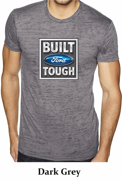 built ford tough shirt ford logo mens burnout tee t shirt. Black Bedroom Furniture Sets. Home Design Ideas