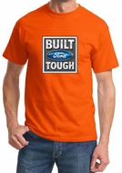 Built Ford Tough Shirt Ford Logo Mens Orange Tee T-Shirt