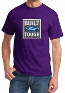 Built Ford Tough Shirt Ford Logo Mens Purple Tee T-Shirt