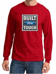 Built Ford Tough Shirt Ford Logo Mens Red Long Sleeve Tee T-Shirt