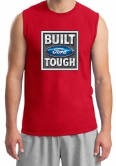 Built Ford Tough Shirt Ford Logo Mens Red Muscle Tee T-Shirt