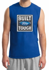 Built Ford Tough Shirt Ford Logo Mens Royal Muscle Tee T-Shirt