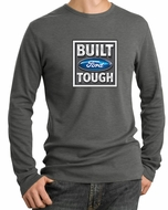 Built Ford Tough Shirt Logo Mens Deep Heather Long Sleeve Thermal Tee