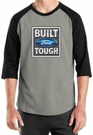 Built Ford Tough Shirt Logo Mens Heather Grey/Black Raglan Tee T-Shirt