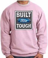 Built Ford Tough Sweatshirt - Ford Logo Adult Pink Sweat Shirt