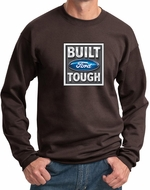 Built Ford Tough Sweatshirt Ford Logo Mens Dark Chocolate Brown Sweat Shirt