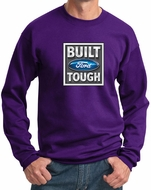 Built Ford Tough Sweatshirt Ford Logo Mens Purple Sweat Shirt