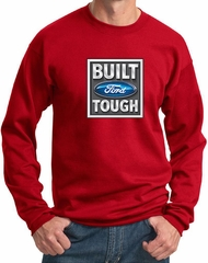 Built Ford Tough Sweatshirt Ford Logo Mens Red Sweat Shirt