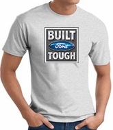Built Ford Tough T-Shirt - Ford Logo Adult Ash Tee Shirt