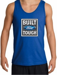 Built Ford Tough Tanktop Logo Mens Royal Tank Top