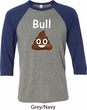 Bull Crap Mens Raglan Shirt