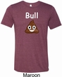Bull Crap Mens Tri Blend Crewneck Shirt