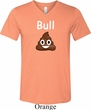 Bull Crap Mens Tri Blend V-neck Shirt