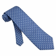 Caduceus Tie Blue Silk Necktie - Mens Occupational Neck Tie