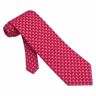 Caduceus Tie Red Silk Necktie - Mens Occupational Neck Tie