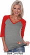 Canada Flag Patch Bottom Print Ladies V-neck Raglan