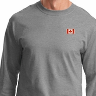 Canada Flag Patch Pocket Print Long Sleeve