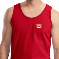 Canada Flag Patch Pocket Print Tank Top