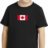 Canadian Flag Small Print Shirts