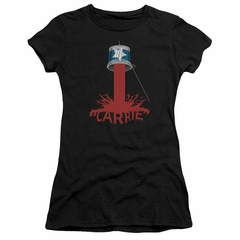 Carrie Juniors Shirt Bucket Of Blood Black T-Shirt