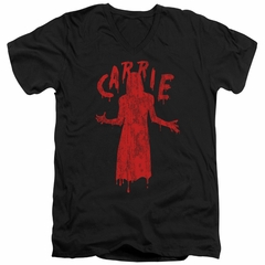 Carrie Slim Fit V-Neck Shirt Silhouette Black T-Shirt